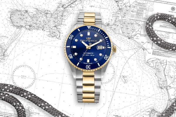 philip-watch-caribe-diving-acciaio-oro-blu-philip-watch